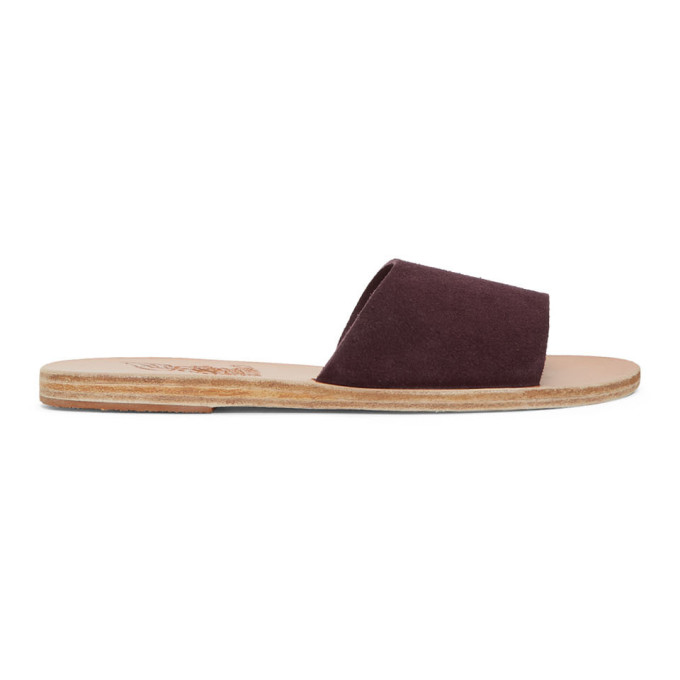 Ancient Greek Sandals Purple Suede Taygete Sandals