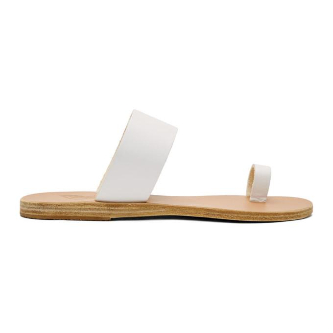 Ancient Greek Sandals White Thraki Sandals