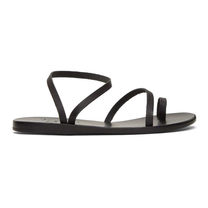 Image of Ancient Greek Sandals Black Eleftheria Sandals