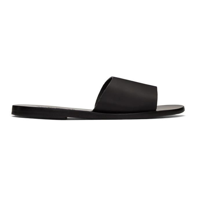 Ancient Greek Sandals Black Taygete Sandals