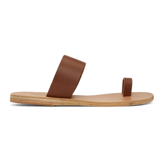 Ancient Greek Sandals Brown Thraki Sandals