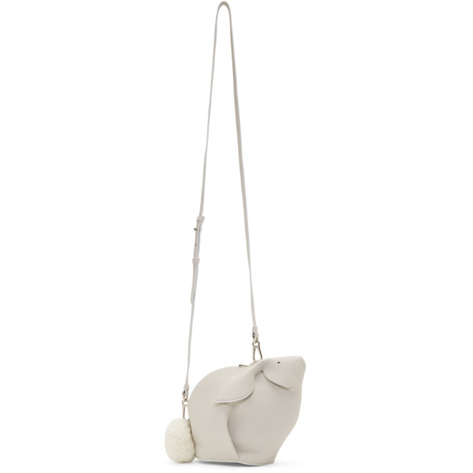 Loewe White Mini Bunny Bag