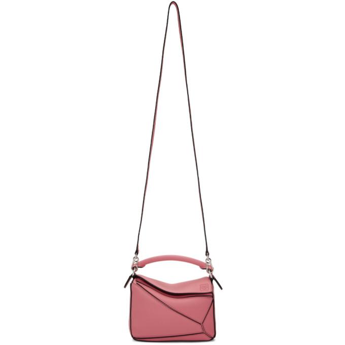 Loewe Pink Mini Puzzle Bag