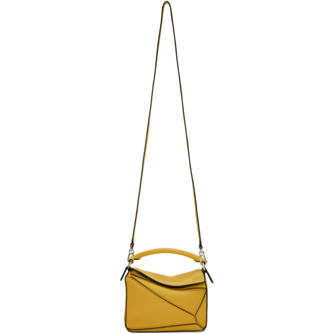 Loewe Yellow Mini Puzzle Bag