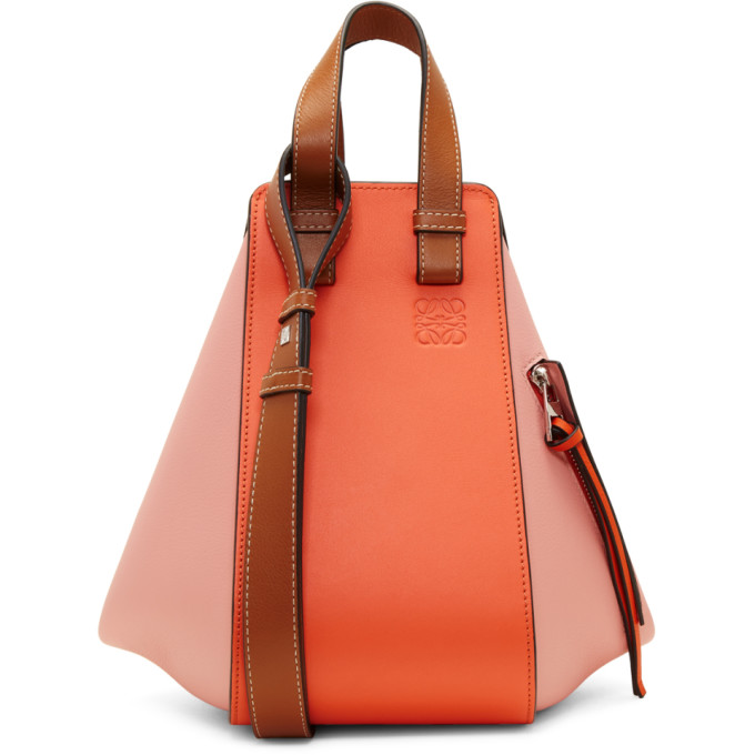 Loewe Orange & Pink Small Hammock Bag