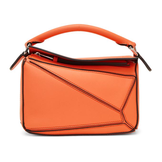 Loewe Orange Mini Puzzle Bag