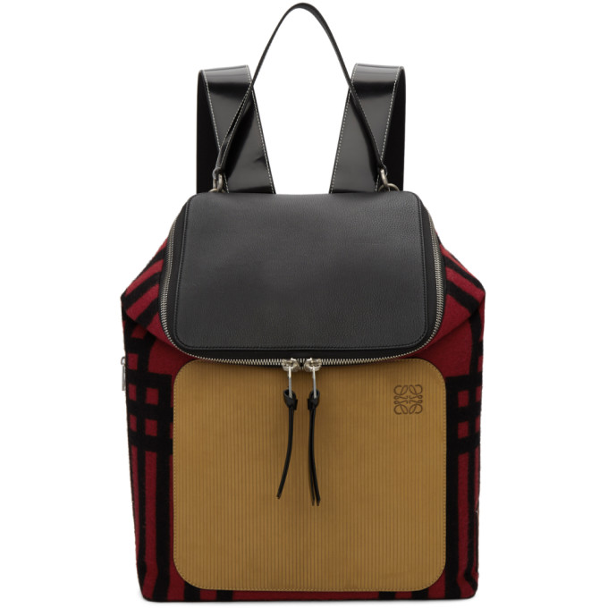 Loewe Red & Black Mackintosh Backpack