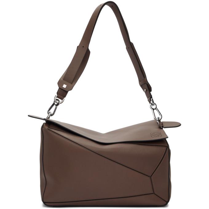 Loewe Taupe Mackintosh XL Puzzle Bag