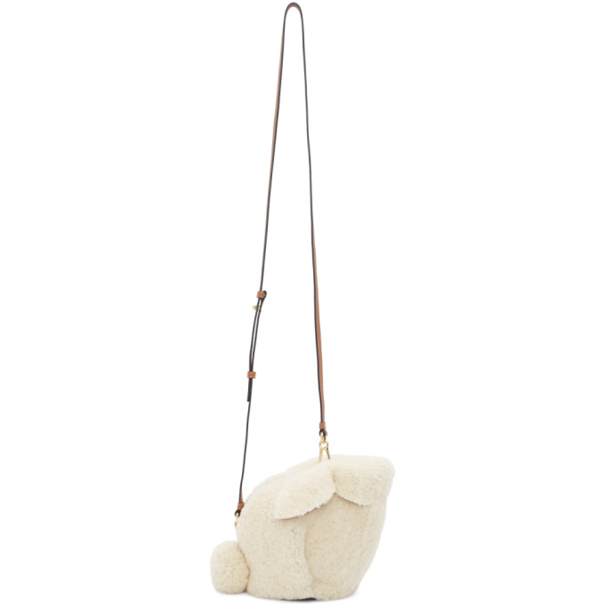Loewe Off-White Shearling Mini Bunny Bag