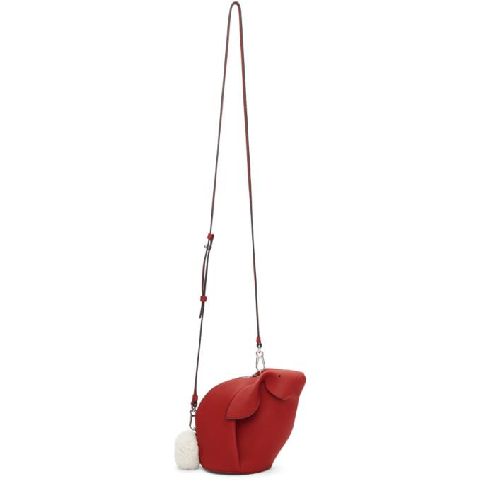 Loewe Red Mini Bunny Bag