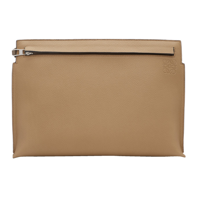 Loewe Beige & Taupe Bicolor T Pouch