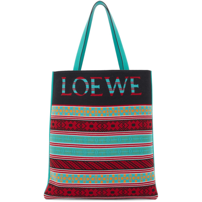 Loewe Multicolor Knit Vertical Tote