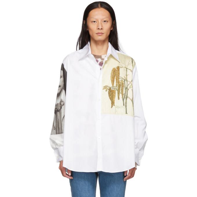 Loewe ホワイト ボタニカル & ポートレート シャツ