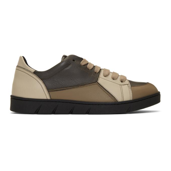 Loewe Taupe Puzzle Sneakers