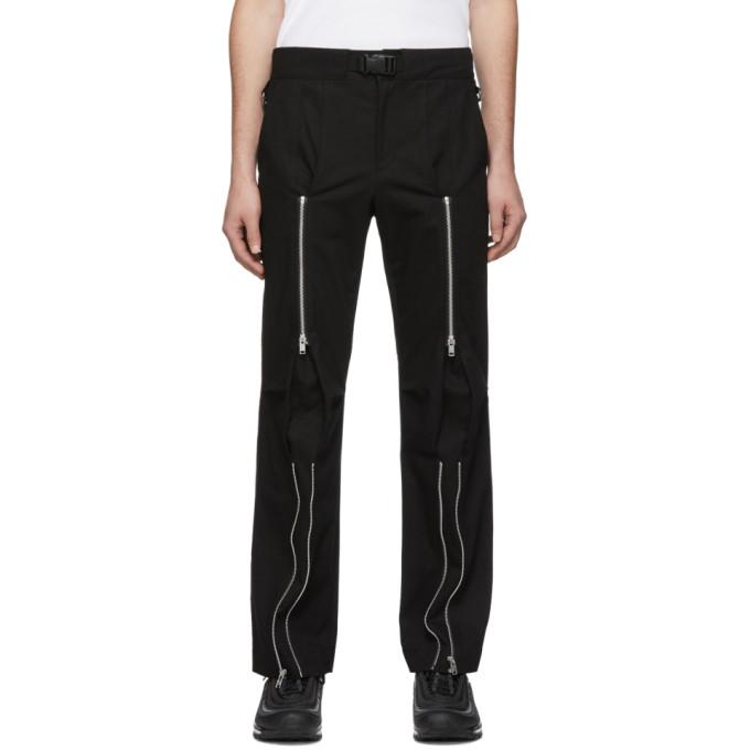 99% IS Pantalon noir Bondage
