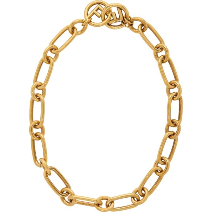 Fendi Gold 'F is Fendi' Chain Necklace