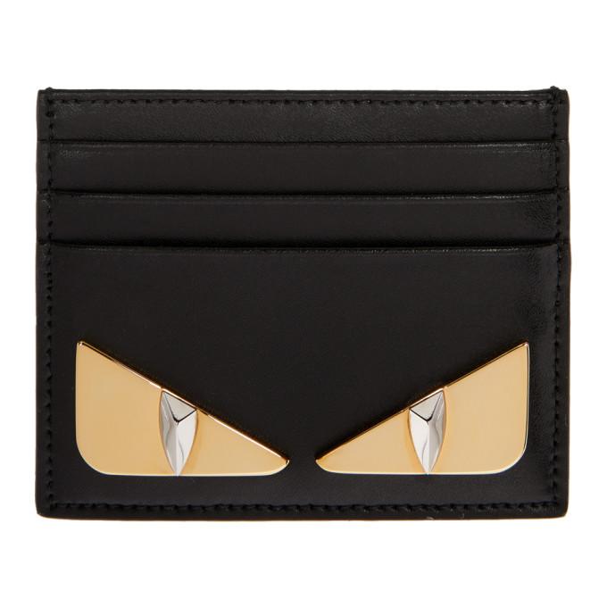 Bag Bugs Leather Cardholder in F0Kur Black