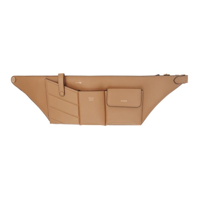 FENDI | Fendi Beige Pockets Belt Bag | Goxip