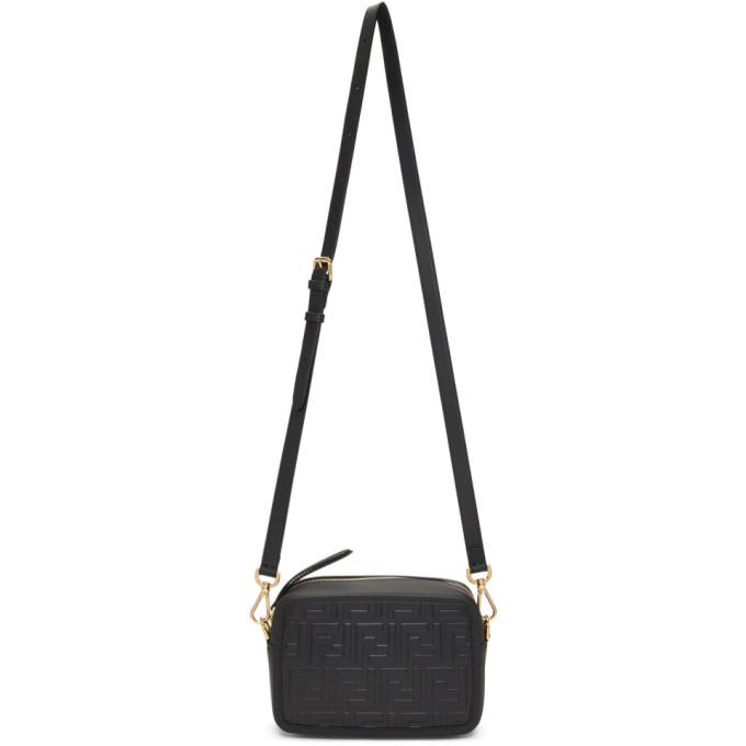 Fendi Black Mini Forever Fendi Camera Bag