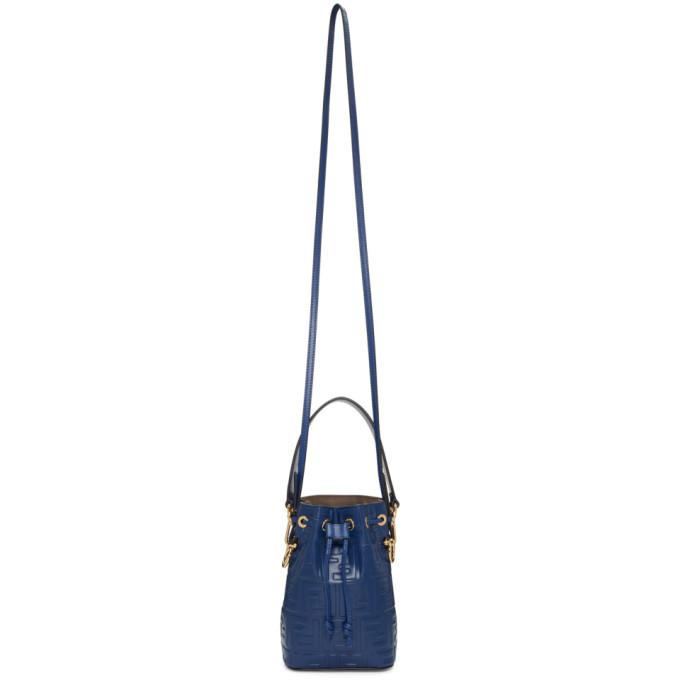 Fendi Navy Mini 'Forever Fendi' Mon Tr�sor Bucket Bag