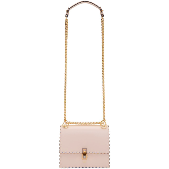 98e263baa9ae1 Fendi Mini Kan I Scalloped Leather Shoulder Bag - Pink In F13Dp Pink