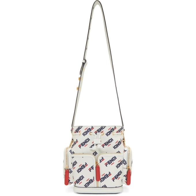Fendi White Small 'Fendi Mania' 'Mon Trésor' Bag
