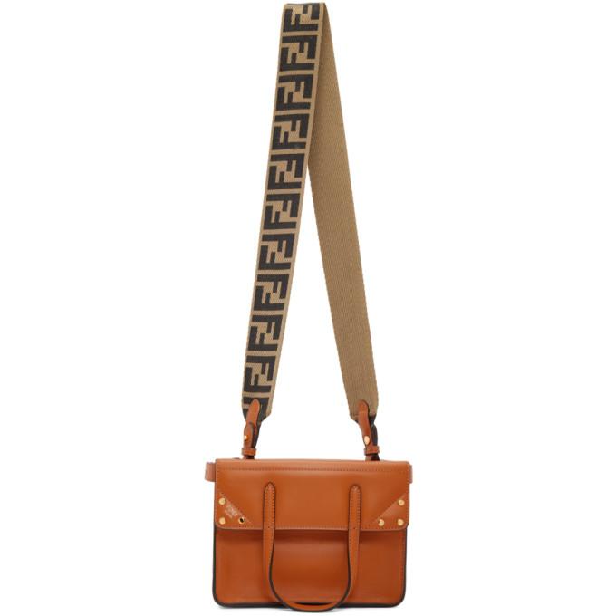 Fendi Orange Small Forever Fendi Flip Bag