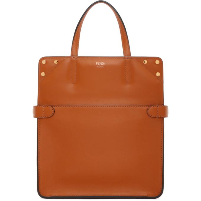 Fendi Orange Small Forever  Flip Bag In F16Go Orang