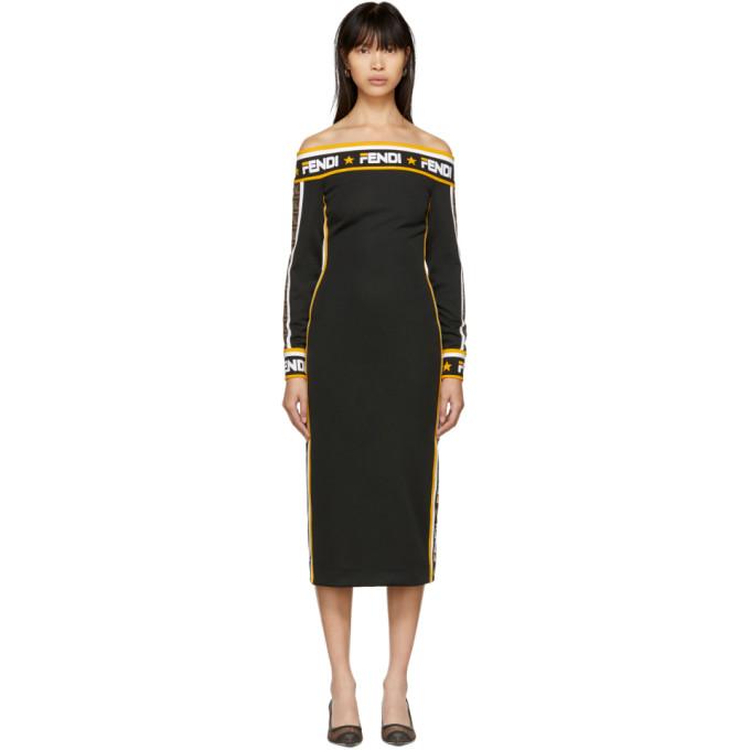 5f9d647a Fendi Black Fendi Mania Off The Shoulder Dress