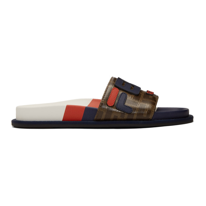 Fendi Multicolor Fendi Mania Slides