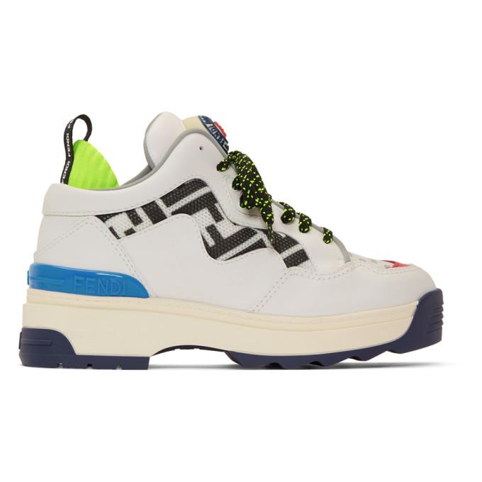Fendi White 'Forever Fendi' T-Rex Sneakers
