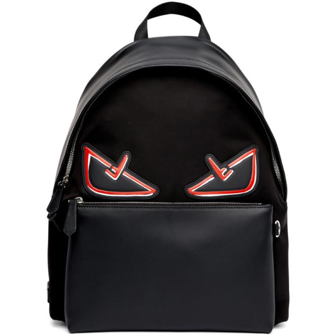 ddb2e61f0 Fendi Black And Red Bag Bugs Backpack In F0P0N - Ner | ModeSens