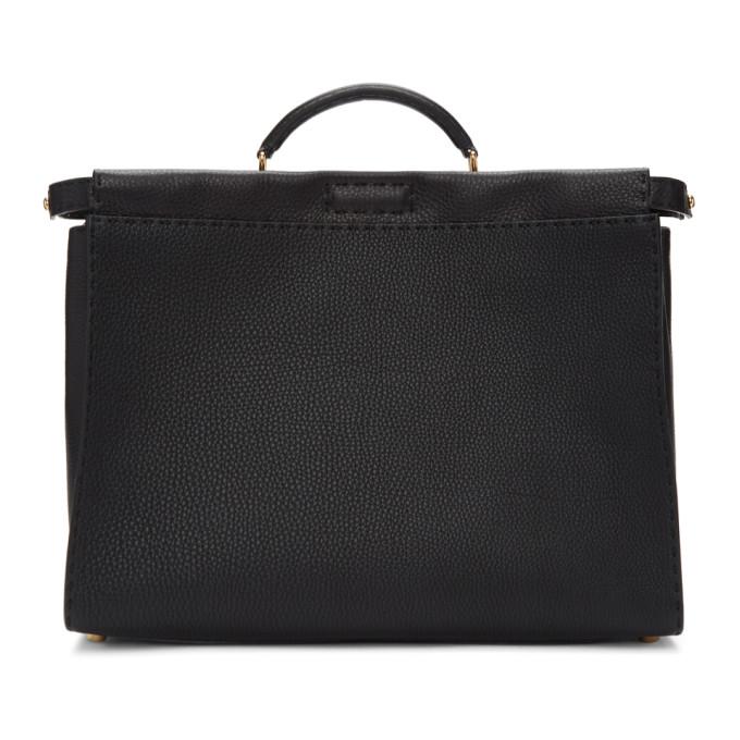 Fendi Black Bag Bugs Peekaboo Regular Briefcase 191693M16701401