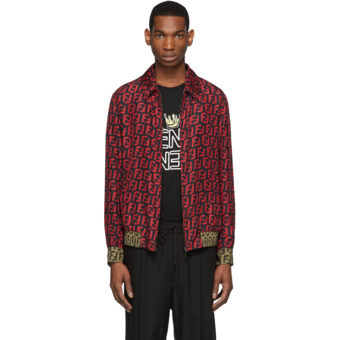 Fendi Reversible Red and Black All Over Forever Fendi Jacket