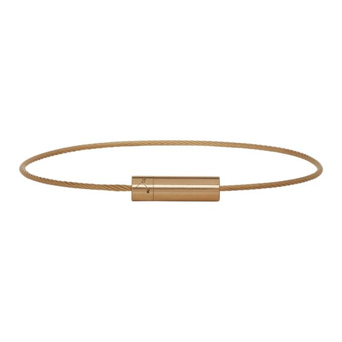 LE GRAMME Le Gramme Gold Brushed Le 7 Grammes Bracelet