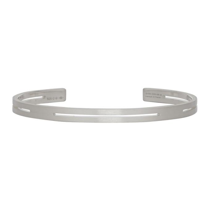 Le Gramme Silver Punched 'Le 13 Grammes' Bracelet