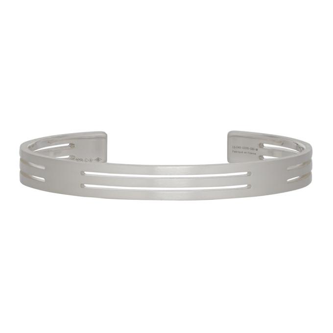 Le Gramme Silver Punched 'Le 19 Grammes' Bracelet