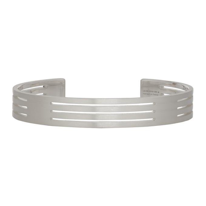 Le Gramme Silver Punched 'Le 27 Grammes' Bracelet