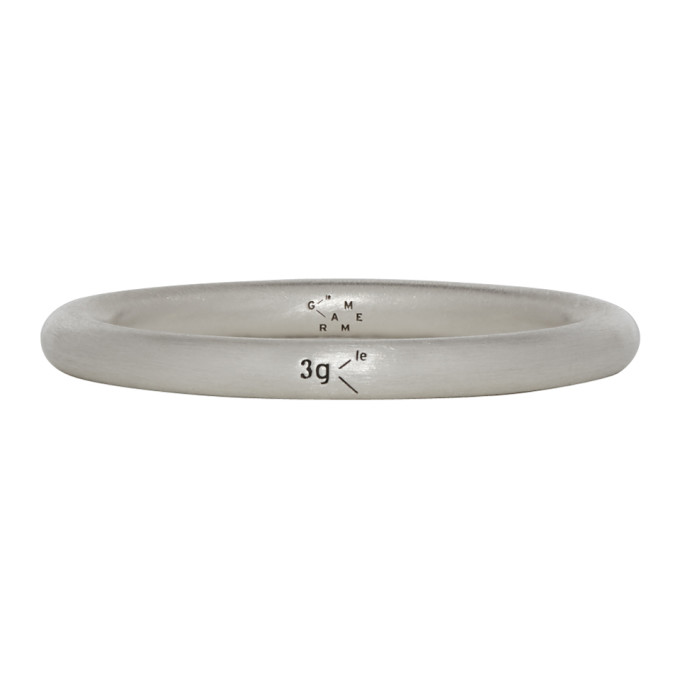LE GRAMME Le Gramme Silver Brushed Le 3 Grammes Bangle Ring