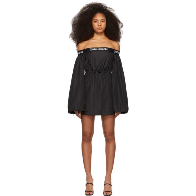 Palm Angels Black Balloon Mini Dress