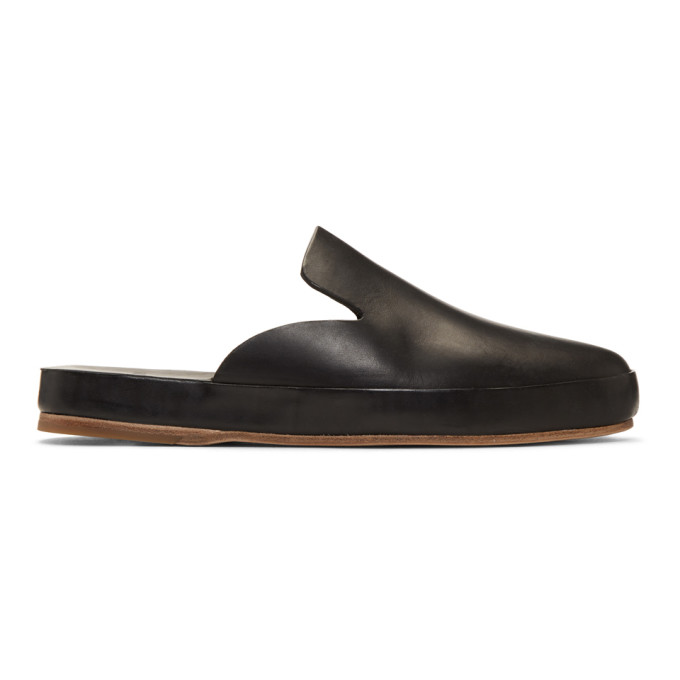 9aaf0c5d468 Feit Black Hand Sewn Mule Loafers