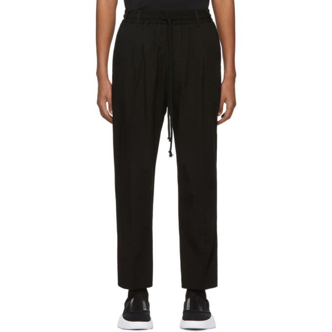 Song For The Mute Pants SONG FOR THE MUTE BLACK VISCOSE LOUNGE PANTS