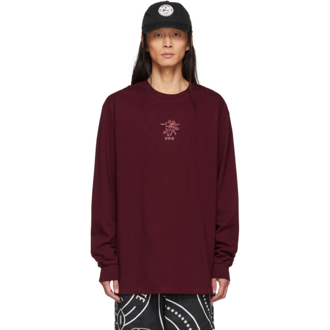 Song For The Mute Burgundy Nothing Edition 'karaoke' Long Sleevet Shirt