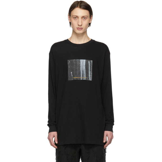 Song For The Mute T-shirts SONG FOR THE MUTE BLACK CACTUS LONG SLEEVE T-SHIRT