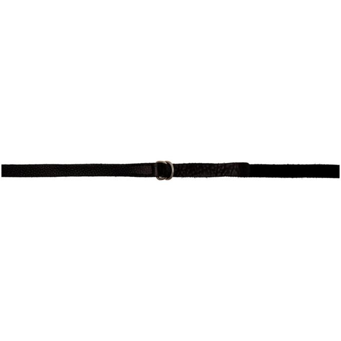 Image of Guidi Black Grained Unisex Belt