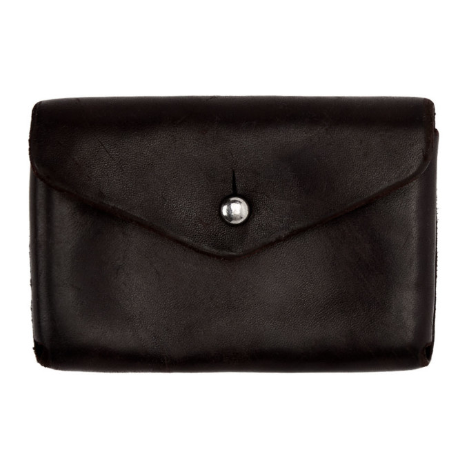 Image of Guidi Black Coin Pouch
