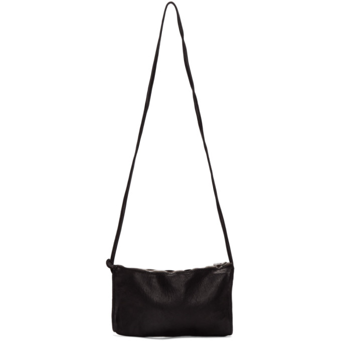 Image of Guidi Black Drawstring Pouch