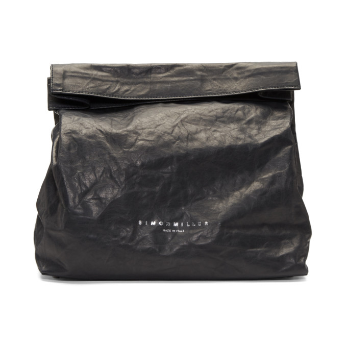 Image of Simon Miller Black Lunch Bag 20 Clutch