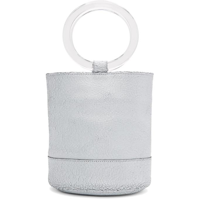 Simon Miller SSENSE Exclusive White Crackle Medium Bonsai 20 Bag
