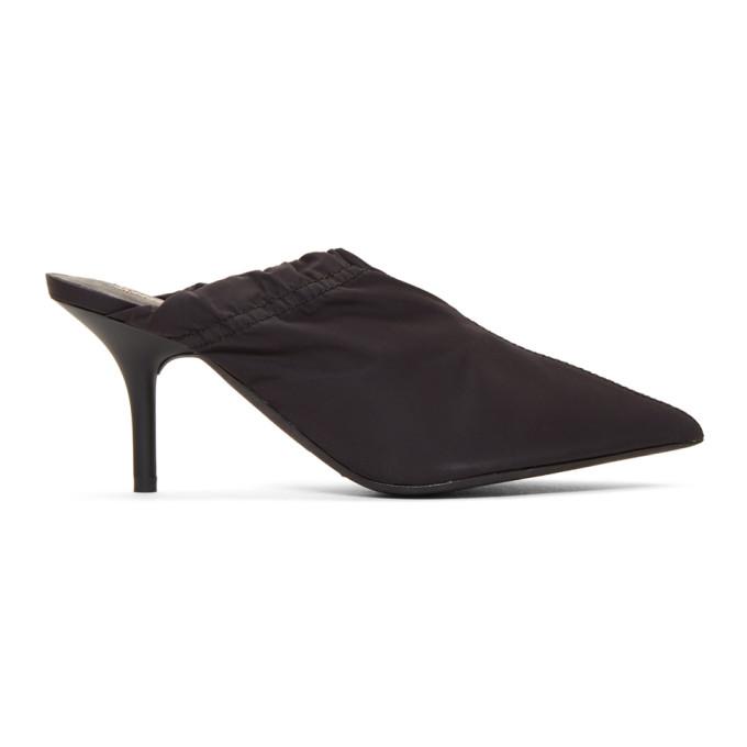 YEEZY Grey Nylon Mule Heels